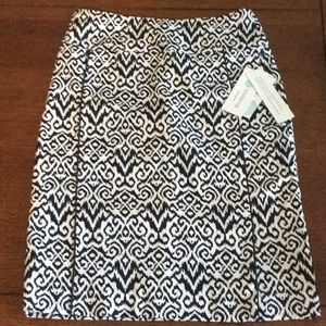 Navy and white skirt